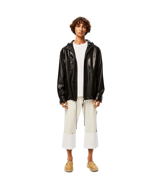 LOEWE Zip Hood Jacket Black front