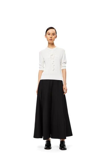 LOEWE Culotte trousers in virgin wool Black pdp_rd