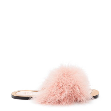 LOEWE Feathers Foot Sandal Light Pink front