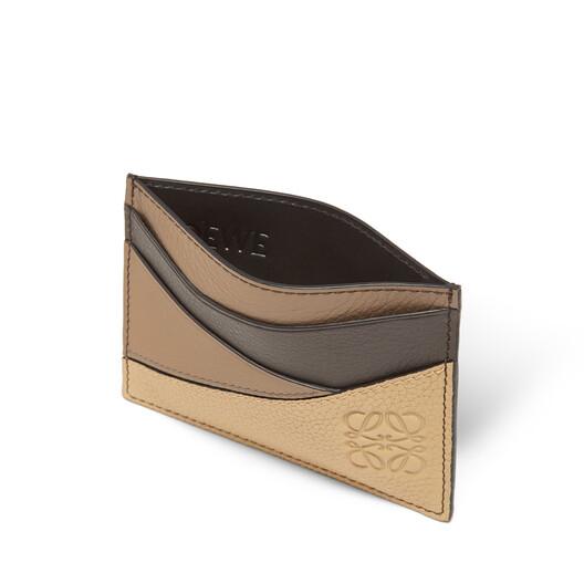LOEWE Puzzle Plain Card Holder Dark Taupe/Desert front
