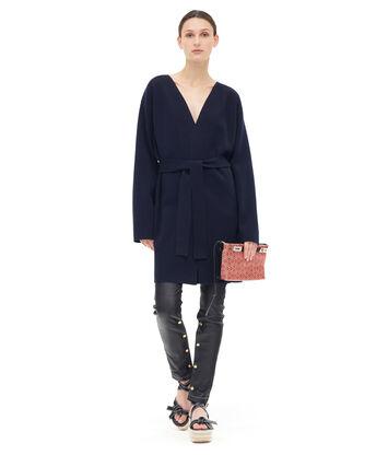 LOEWE Belted Knit Coat Marino front