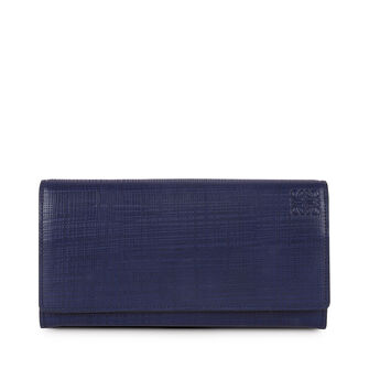 LOEWE Continental Wallet Navy Blue front