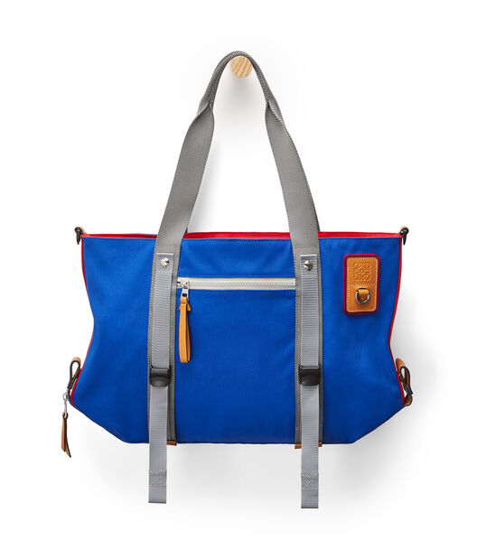 LOEWE Eye/Loewe/Nature Tote Blue/Red front