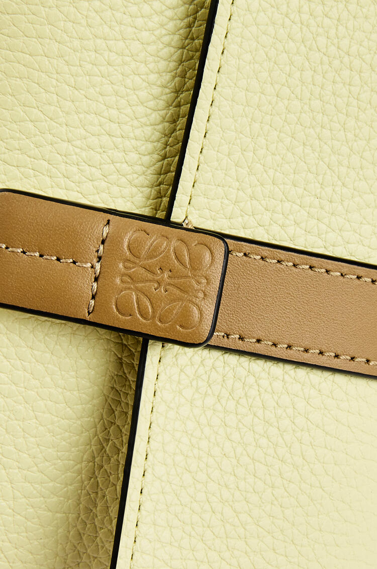 LOEWE Small vertical wallet in soft grained calfskin Pale Lime/Ochre Green pdp_rd