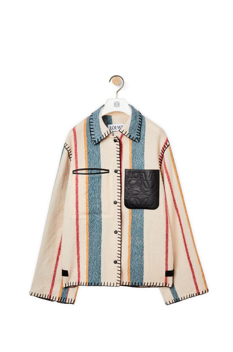 LOEWE 初剪羊毛條紋鈕扣外套 多色拼接 pdp_rd