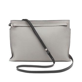 LOEWE Bolso T Pouch Gris Humo/Antracita front