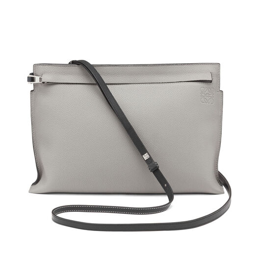 LOEWE T Pouch Bag Smoke Grey/Anthracite all