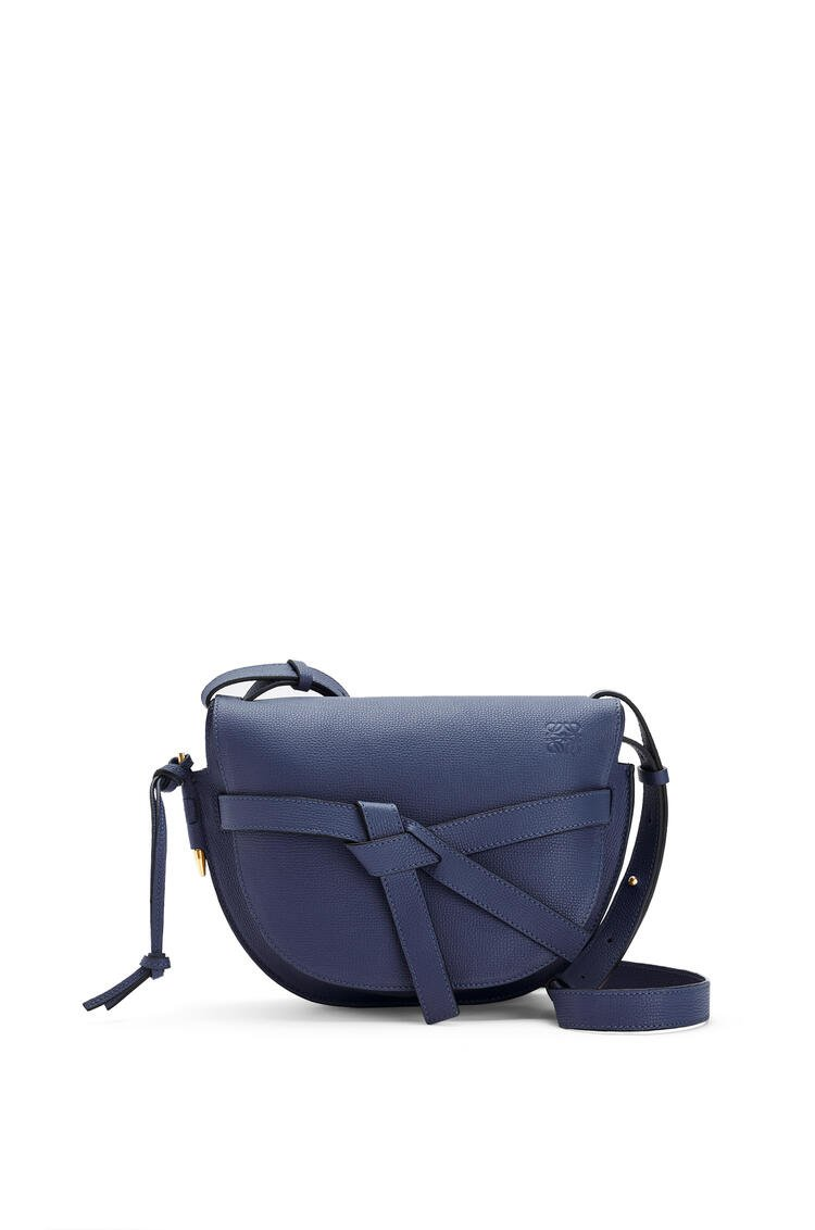 LOEWE Small Gate bag in pebble grain calfskin Ocean pdp_rd