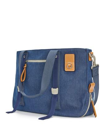LOEWE Eye/Loewe/Nature Tote Bag Indigo front
