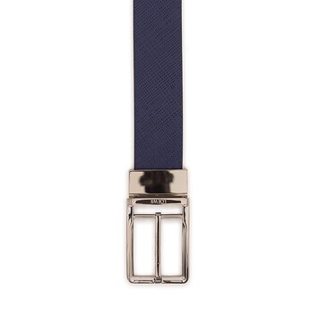 LOEWE Formal Belt 3.2Cm Adj/Rev Navy/Black/Ruthenium front
