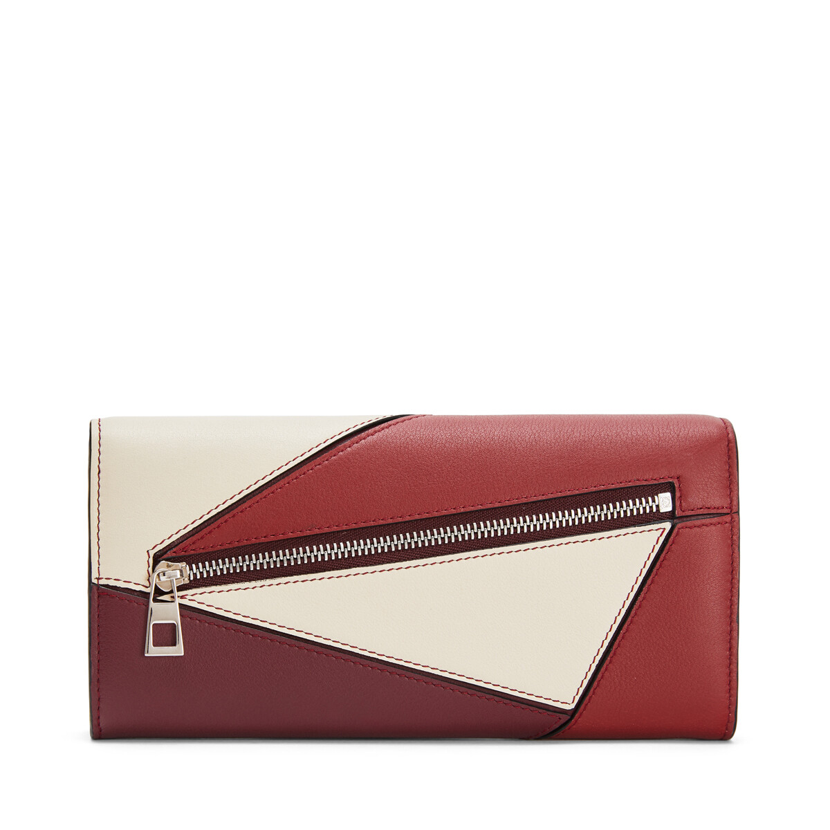 LOEWE Puzzle Continental Wallet Wine/Garnet front
