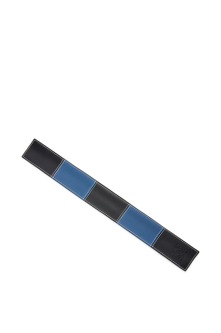 LOEWE Big slap bracelet in smooth calfskin Black/Blue pdp_rd