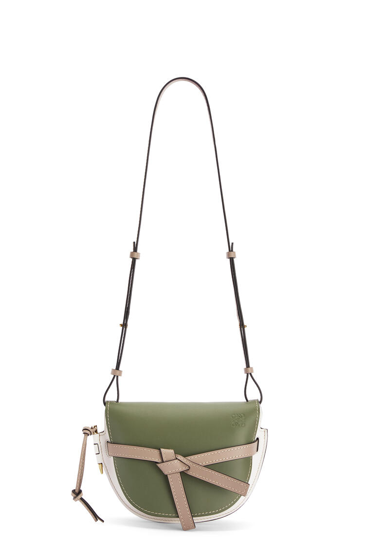 LOEWE Small Gate bag in soft calfskin Avocado Green/Sand pdp_rd