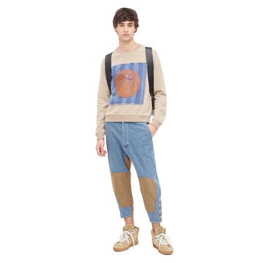 LOEWE Leather Balloon Sweatshirt Beige all