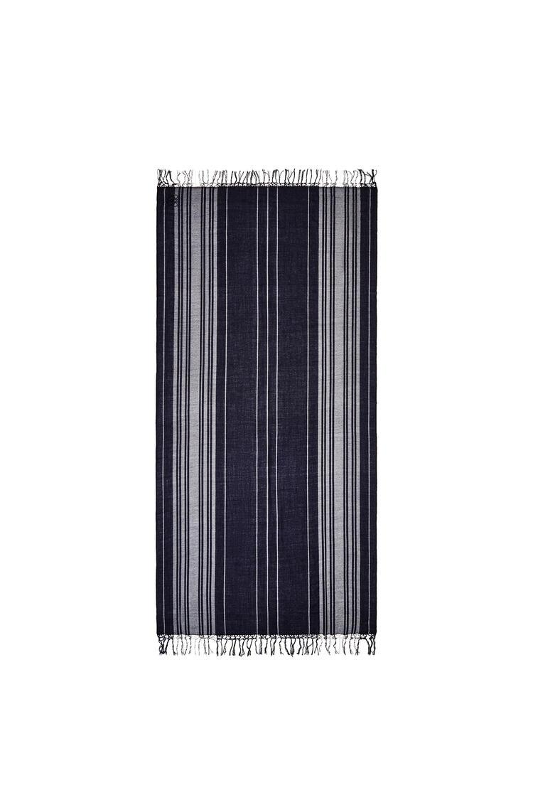 LOEWE Bufanda en cachemira de rayas Azul Oscuro/Blanco pdp_rd