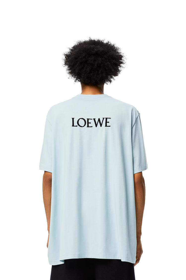 LOEWE Goose oversize t-shirt in cotton Baby Blue pdp_rd