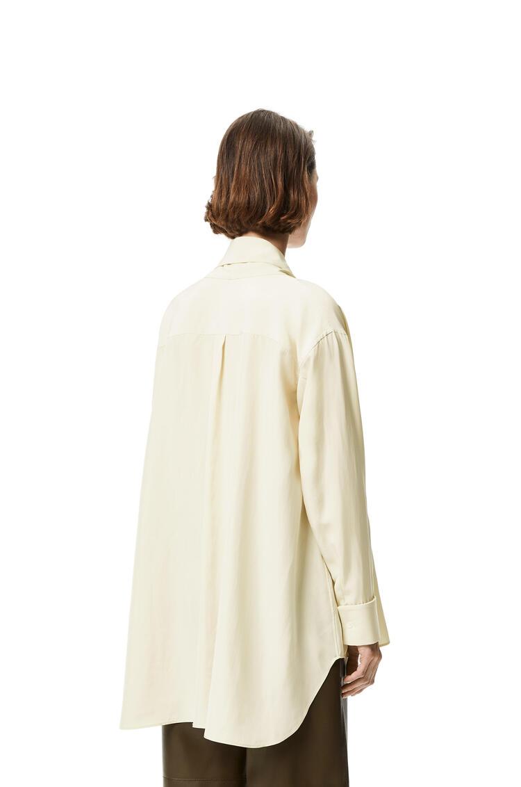 LOEWE Anagram jacquard lavaliere blouse in silk Ecru pdp_rd