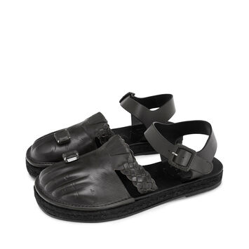 LOEWE Sandal Toes 黑色 front