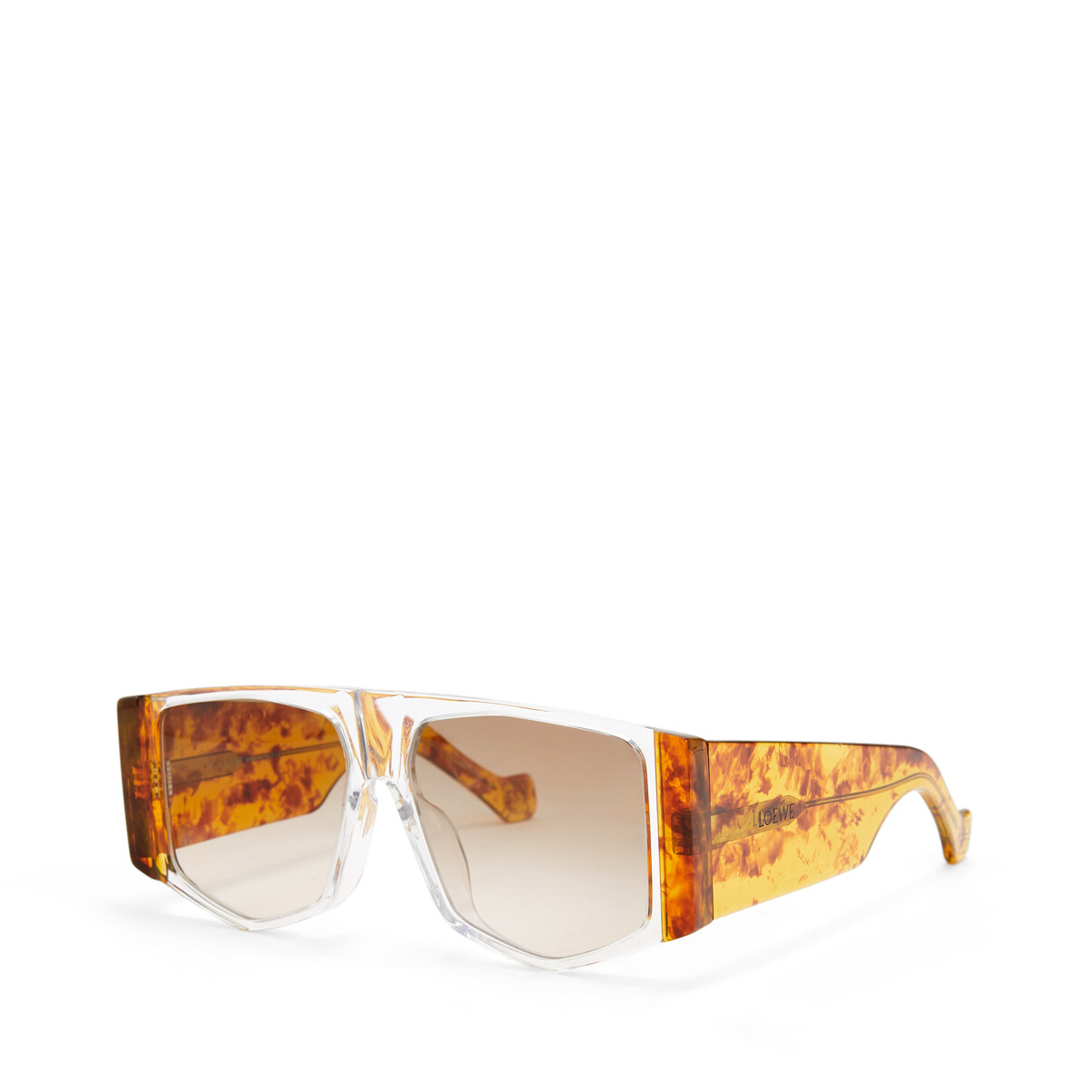 LOEWE Acetate Mask Sunglasses Amber/Gradient Brown front