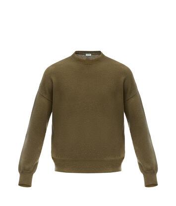 LOEWE クロプトセーター カーキグリーン front
