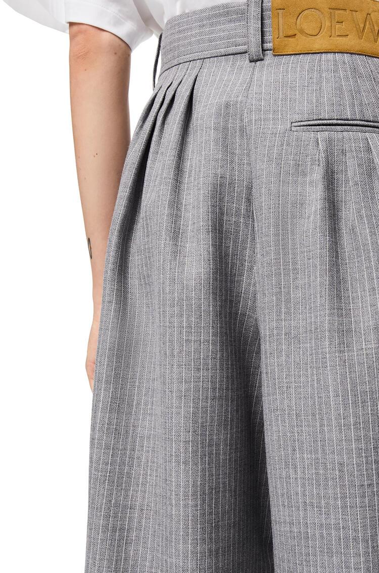 LOEWE Balloon Trousers In Striped Virgin Wool Grey pdp_rd