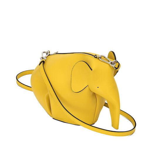LOEWE Elephant Mini Bag 黄色 front