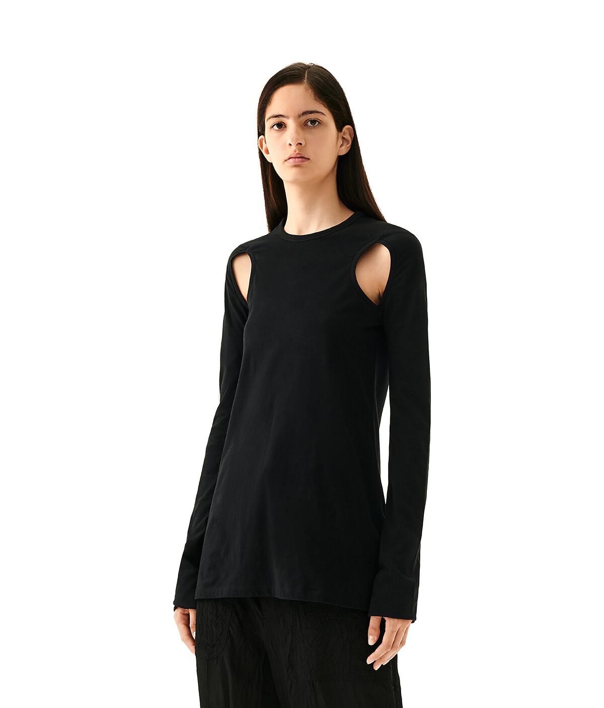 LOEWE Cut Out Long Slv T-Shirt Black front