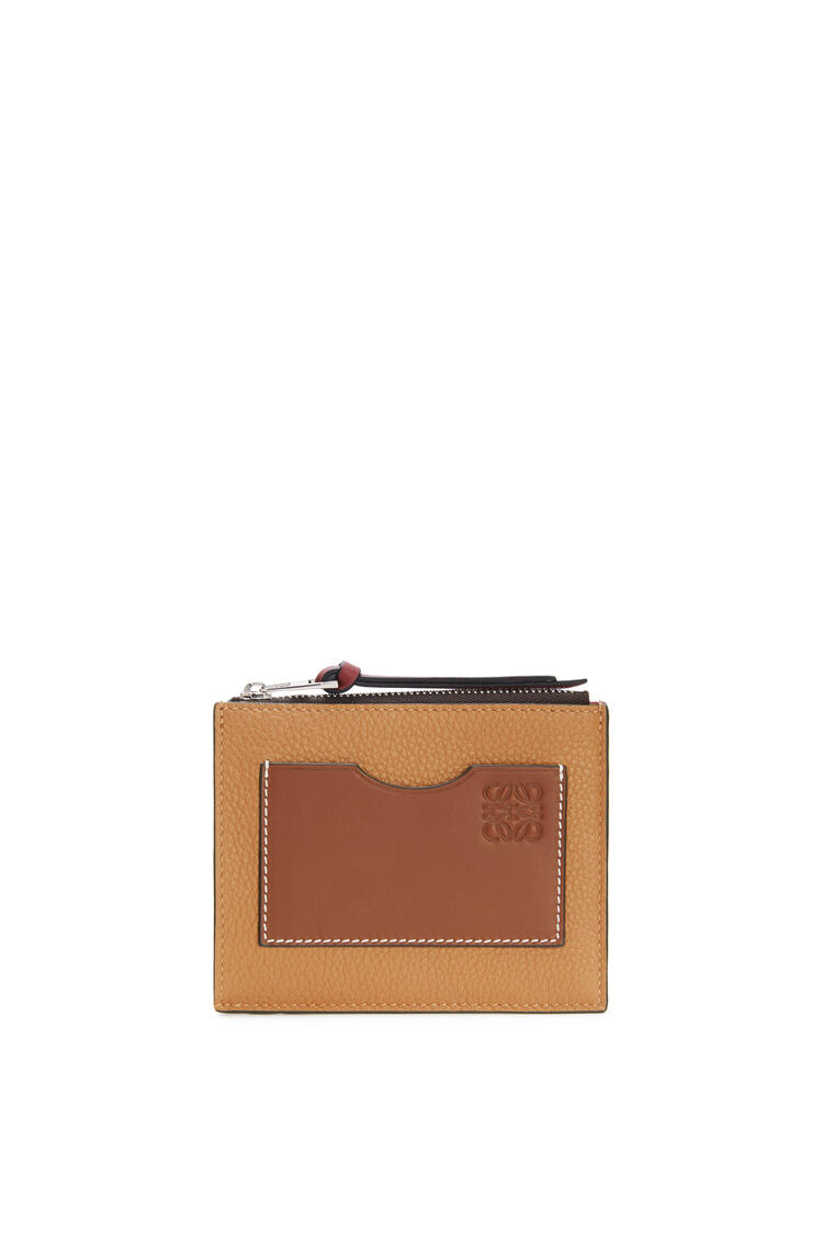 LOEWE Coin cardholder in soft grained calfskin Light Caramel/Pecan pdp_rd