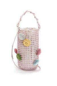 LOEWE Flower Bucket mesh bag in calfskin Icy Pink pdp_rd
