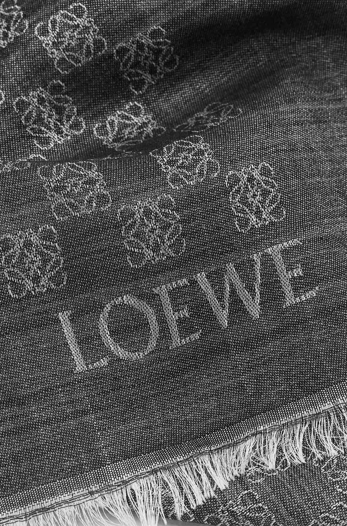 LOEWE 70X200 Scarf Anagram Damier 黑色 front