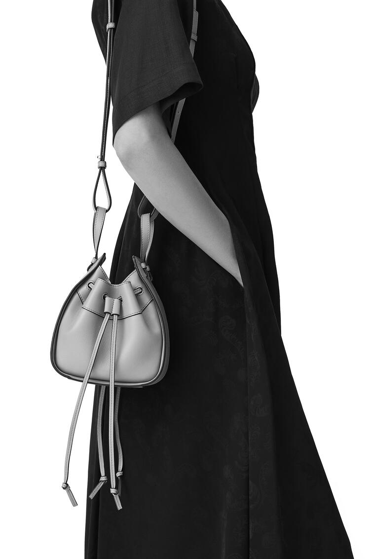 LOEWE Mini Hammock Drawtring Bag In Nappa Calfskin Dark Taupe pdp_rd