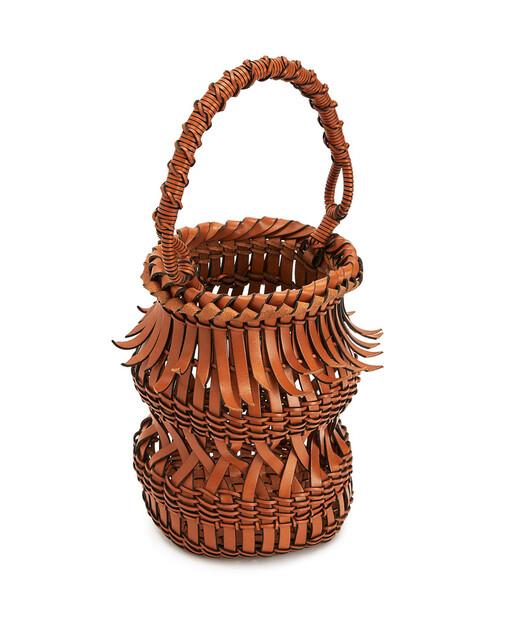 LOEWE Fringes Bucket Bag Tan front