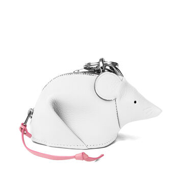 LOEWE Mouse Charm Soft White/Candy front