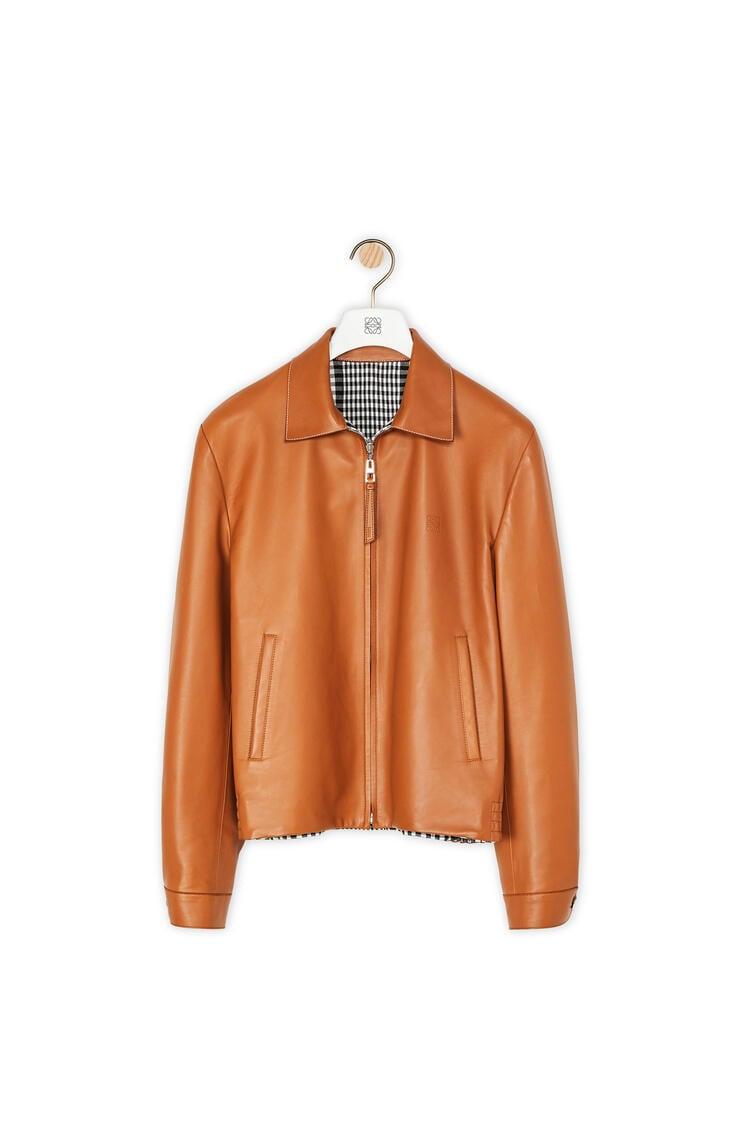 LOEWE Zip jacket in nappa Tan pdp_rd
