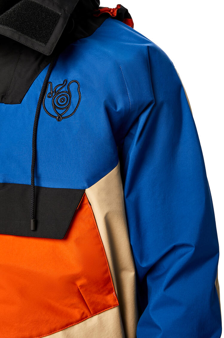 LOEWE Pullover parka in nylon Blue/Beige pdp_rd