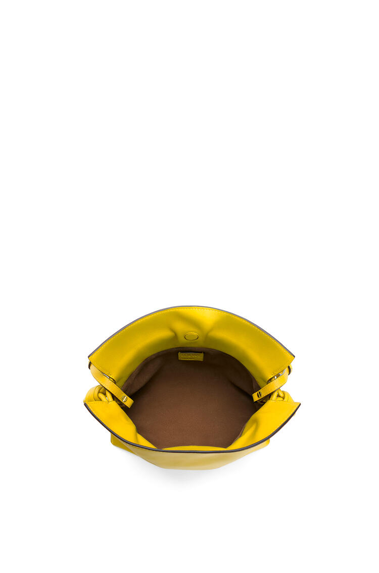 LOEWE Mini Flamenco clutch in nappa calfskin Yellow pdp_rd