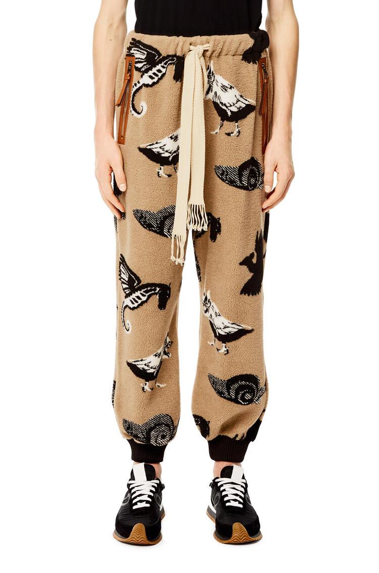 LOEWE Track trousers in fleece jacquard Green/Tan pdp_rd