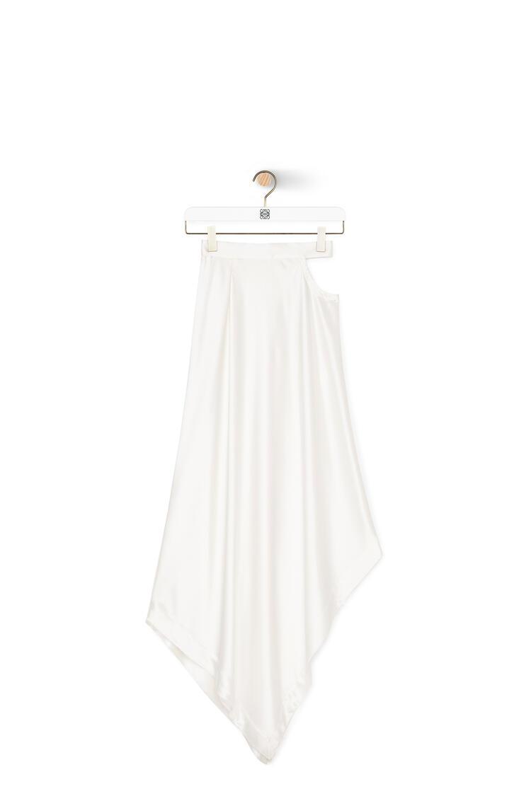 LOEWE Satin Skirt In Polyester White pdp_rd