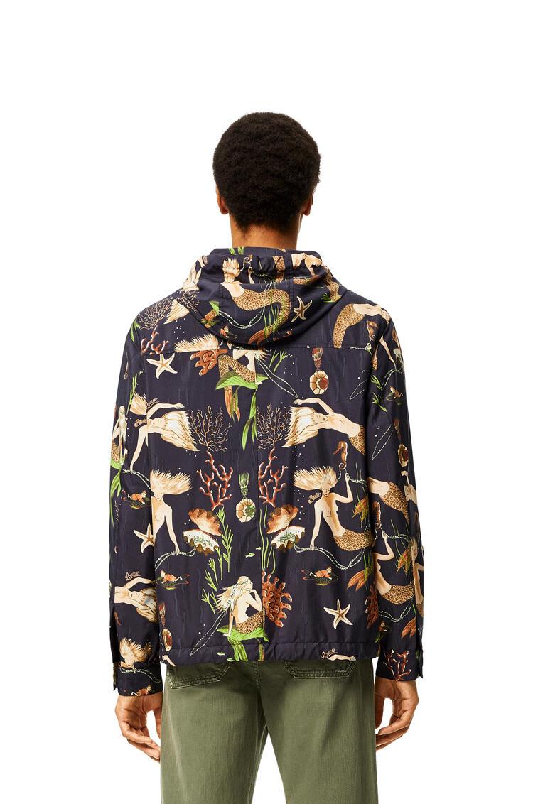 LOEWE Hooded Jacket In Mermaid Polyamide Black pdp_rd