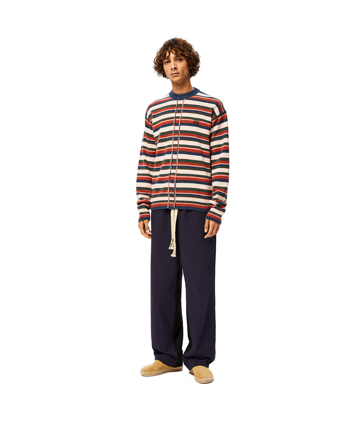 LOEWE Stripe Anagram Sweater Multicolor front