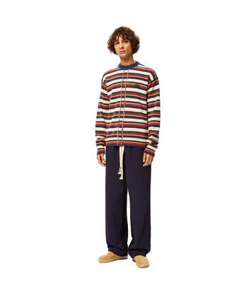 LOEWE Stripe Anagram Sweater Multicolor front