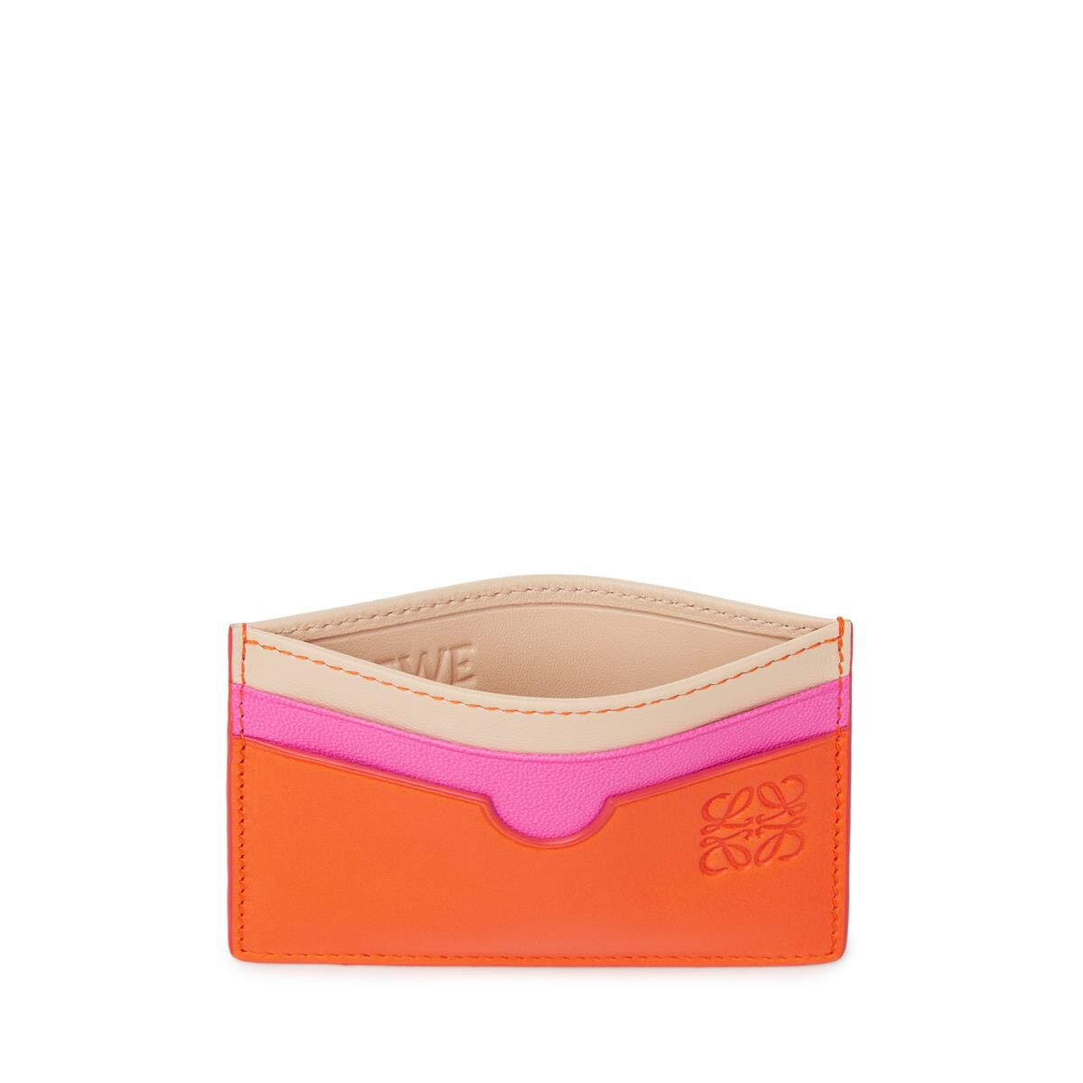 LOEWE Plain Card Holder Orange/Multicolor all