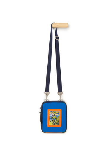 LOEWE Crossbody Bag In Canvas Electric Blue/Navy Blue pdp_rd