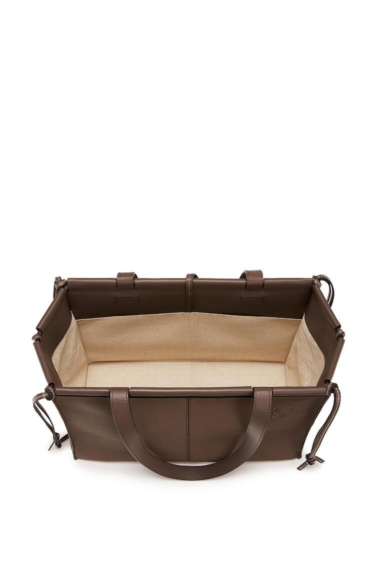 LOEWE Cushion tote bag in soft grained calfskin Dark Taupe pdp_rd