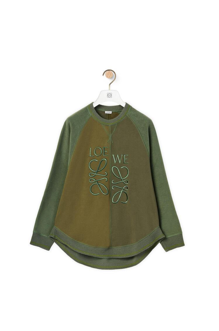LOEWE Anagram sweatshirt in cotton and wool Dark Green/Forest pdp_rd