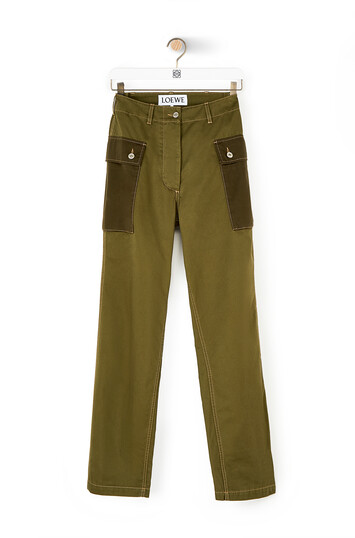 LOEWE Cargo Trousers カーキグリーン front