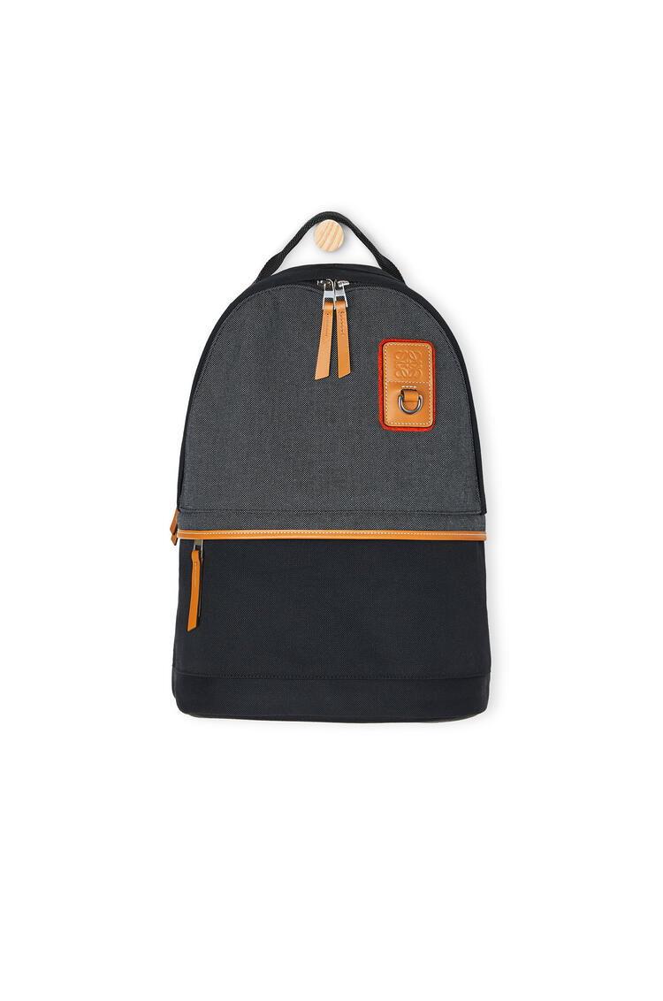 LOEWE Small Backpack in canvas Black pdp_rd