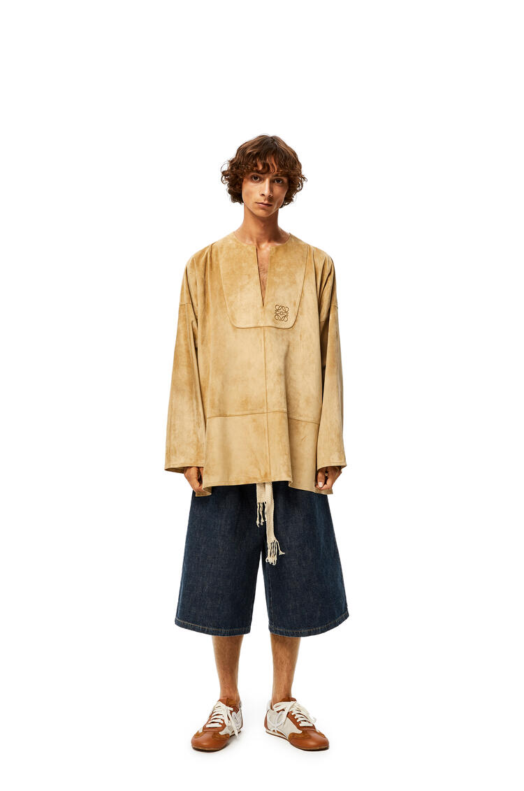 LOEWE Tunic in suede Gold pdp_rd