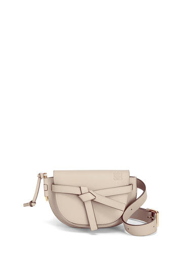 LOEWE Gate bumbag in soft calfskin Light Oat pdp_rd
