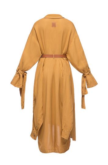 LOEWE Leather Strap Coat Honey front